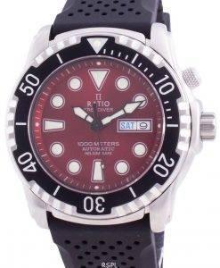 比率無料ダイバーヘリウムセーフ1000 Mサファイア自動1068HA90-34VA-REDメンズ腕時計