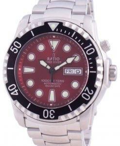 比率無料ダイバーヘリウムセーフ1000 Mサファイア自動1068HA96-34VA-REDメンズ腕時計