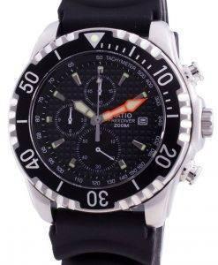 比200mダイバークォーツクロノグラフサファイア48HA90-17 + CHR-BLKメンズ腕時計