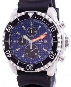 比200mダイバークォーツクロノグラフサファイア48HA90-17 + CHR-BLUメンズ腕時計