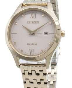 シチズンエコドライブEW2533-89Xダイヤモンドアクセントレディース腕時計