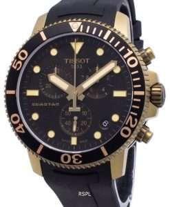 ティソダイバーズシースターT120.417.37.051.01 T1204173705101クロノグラフクォーツ300Mメンズ腕時計