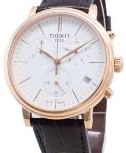 ティソカーソンプレミアムT122.417.36.011.00 T1224173601100クロノグラフクォーツメンズ腕時計