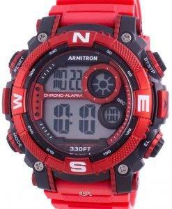 アーミトロンスポーツ408284RDBKクォーツコンパスメンズ腕時計