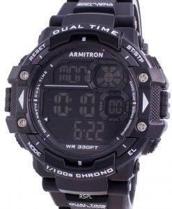 アーミトロンスポーツ408309BLKクォーツデュアルタイムメンズ腕時計