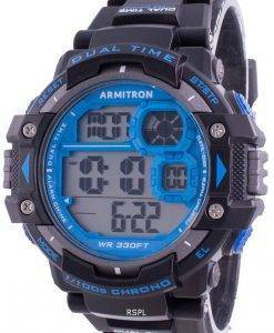 アーミトロンスポーツ408309BLUクォーツデュアルタイムメンズ腕時計
