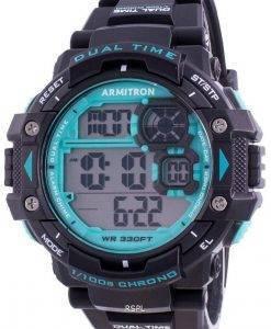 アーミトロンスポーツ408309BTLクォーツデュアルタイムメンズ腕時計
