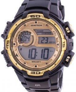 アーミトロンスポーツ408347BKGDクォーツメンズ腕時計