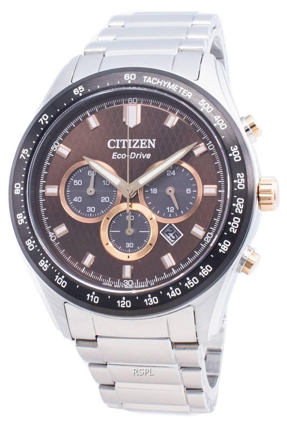 シチズンエコドライブCA4456-83Xタキメーターメンズ腕時計