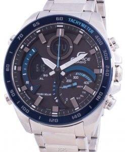 カシオエディフィスECB-900DB-1Bタキメータークォーツメンズ腕時計