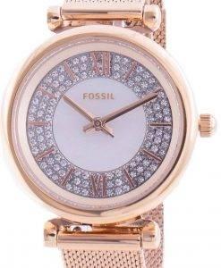 FossilカーリーミニES4836クォーツダイヤモンドアクセントレディース腕時計