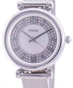 FossilカーリーミニES4837クォーツダイヤモンドアクセントレディース腕時計