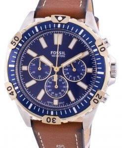 Fossil Garrett FS5625クォーツクロノグラフメンズ腕時計