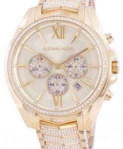 マイケルコースホイットニーMK6729クォーツダイヤモンドアクセントレディース腕時計