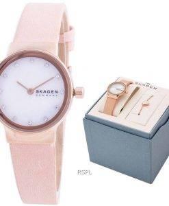 スカーゲンFreja SKW1113クォーツダイヤモンドアクセントレディース腕時計