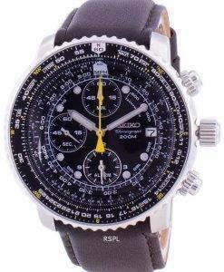 セイコーパイロットフライトSNA411P1-VAR-LS11クォーツクロノグラフ200 Mメンズ腕時計
