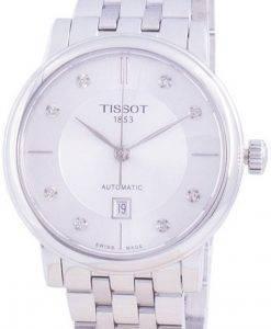ティソTクラシックカーソンT122.207.11.036.00 T1222071103600自動ダイヤモンドアクセントレディース腕時計