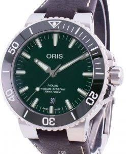 オリスアクイスデイト01 733 7730 4157-07 5 24 10EB 01-733-7730-4157-07-5-24-10EB自動300Mメンズ腕時計