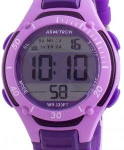 アーミトロンスポーツ457062PURクォーツデュアルタイムレディース腕時計