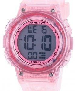 アーミトロンスポーツ457086TPKクォーツデュアルタイムレディース腕時計
