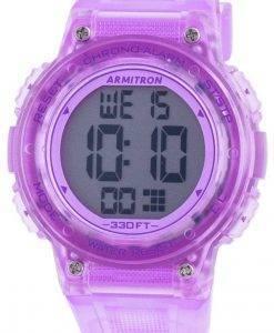 アーミトロンスポーツ457086TPRクォーツレディース腕時計