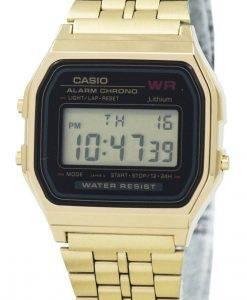 カシオデジタルアラームクロノステンレス鋼A159WGEA-1DF A159WGEA-1レディース腕時計