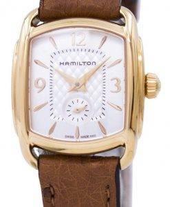 ハミルトンアメリカンクラシックバッグリークオーツH12341555レディース腕時計