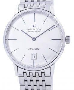 ハミルトンイントラマティック自動シルバーダイヤルH38455151メンズ腕時計