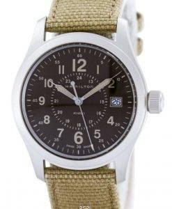 ハミルトンカーキクオーツスイス製H68201993メンズ腕時計