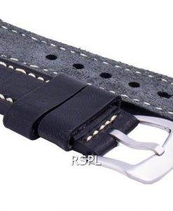 セイコーLS16ブラックラバーストラップ22mm