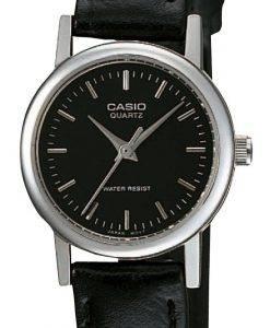 カシオクォーツアナログブラックダイヤルLTP-1095E-1ADF LTP1095E-1ADFレディース腕時計