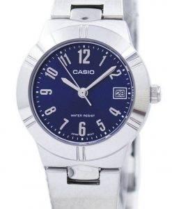 カシオアナログクォーツブルーダイヤルLTP-1241D-2A2DF LTP-1241D-2A2レディース腕時計