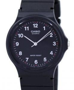 カシオクラシックアナログクォーツブラックレジンMQ-24-1BLDF MQ24-1BLDFメンズ腕時計