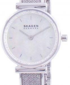 スカーゲンアネリーSKW2793クォーツダイヤモンドアクセントレディース腕時計