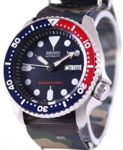 セイコー自動ダイバーズ 200 M 軍 NATO ストラップ SKX009K1 NATO5 メンズ腕時計