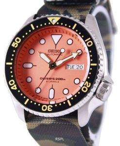 セイコー自動ダイバーズ 200 M 軍 NATO ストラップ SKX011J1 NATO5 メンズ腕時計