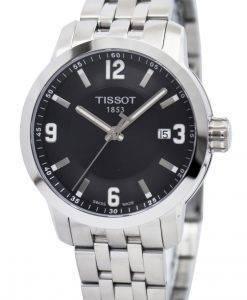 ティソTスポーツPRC 200クォーツブラックダイヤルT055.410.11.057.00 T0554101105700メンズ腕時計
