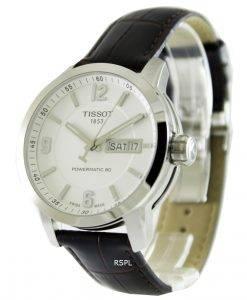ティソTスポーツPRC 200自動ホワイトダイヤルT055.430.16.017.00 T0554301601700メンズ腕時計