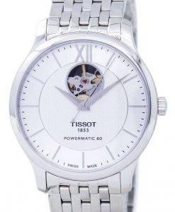 ティソTクラシック伝統パワーマティック80オープンハートT063.907.11.038.00 T0639071103800メンズ腕時計