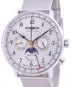 ツェッペリンヒンデンブルクZ7036M1クォーツムーンフェイズメンズ腕時計