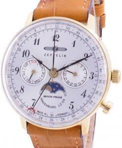 ツェッペリンヒンデンブルクLZ129 7039-1 70391クォーツムーンフェイズメンズ腕時計
