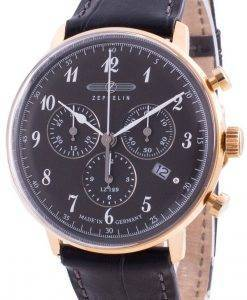 ツェッペリンヒンデンブルクLZ129 7084-2 70842クォーツクロノグラフメンズ腕時計