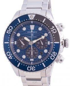 Seiko Prospex Diver's Save The Ocean SSC741 SSC741P1 SSC741P Solar Chronograph Special Edition 200M Men's Watch