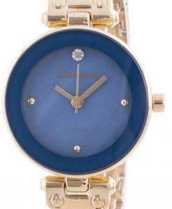 アンクライン1980BLGBクォーツダイヤモンドアクセントレディース腕時計