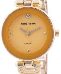 アンクライン1980MGGBクォーツダイヤモンドアクセントレディース腕時計