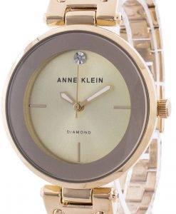アンクライン2512BYGBクォーツダイヤモンドアクセントレディース腕時計