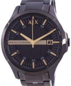 Armani Exchange Hampton Black Dial Quartz AX2413 Mens Watch