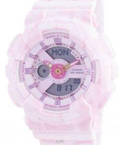 Casio Baby-G World Time Shock Resistant BA-110PI-4A BA110PI-4 100M Womens Watch