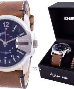 Diesel Master Chief Blue Dial Quartz DZ1925 With Gift Set 100M Mens Watch