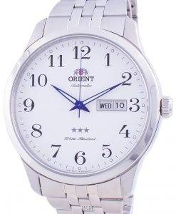 Orient Tri Star White Dial Automatic FAB0B002W9 Men's Watch